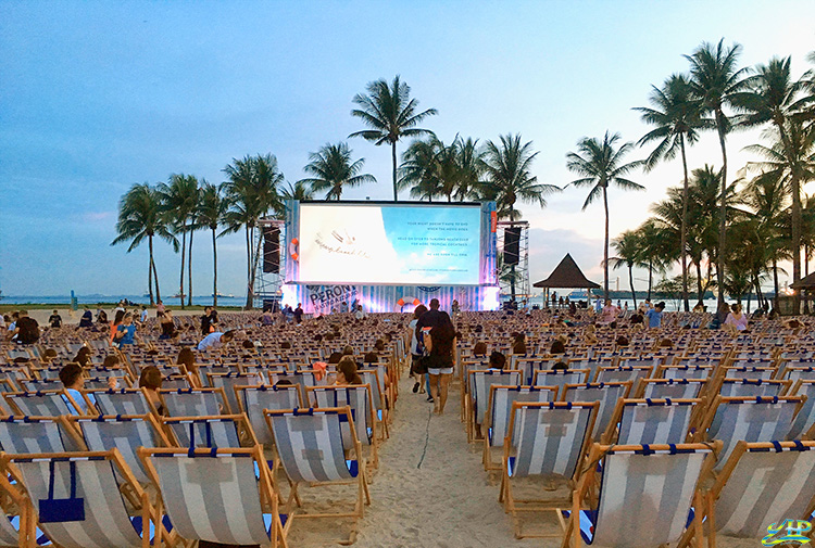 Sunset Cinema at Sentosa Tanjong Beach