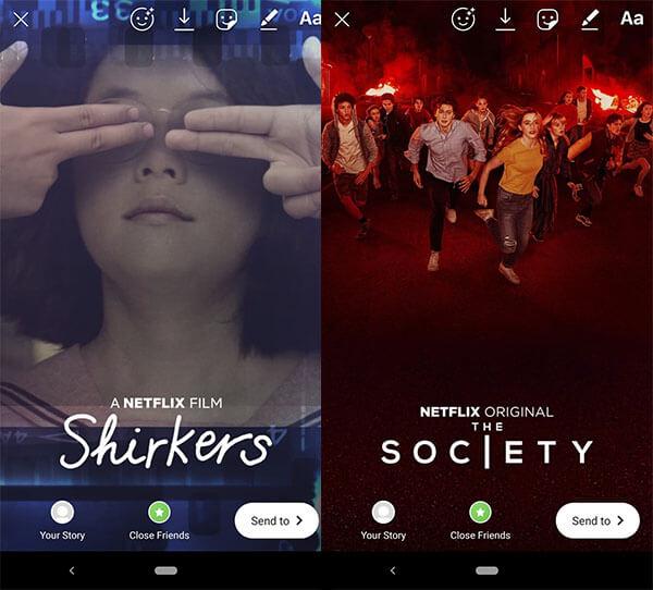Kisah instagram aplikasi Netflix