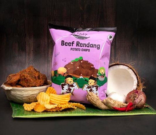 Beef Rendang Potato chip