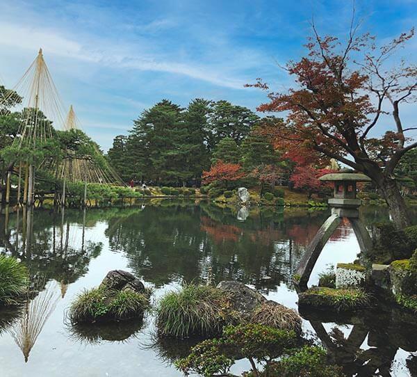 Kanazawa Kenrokuen in Central Japan