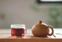having tea at home