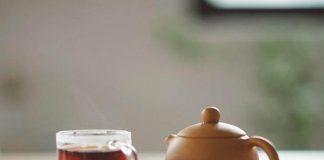 having tea at home
